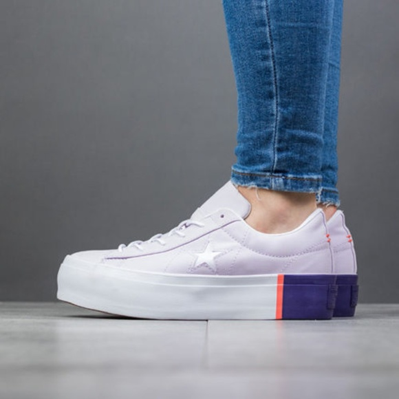 c4dc4f154c8 Size 7 Converse One Star Platform Sneakers Purple